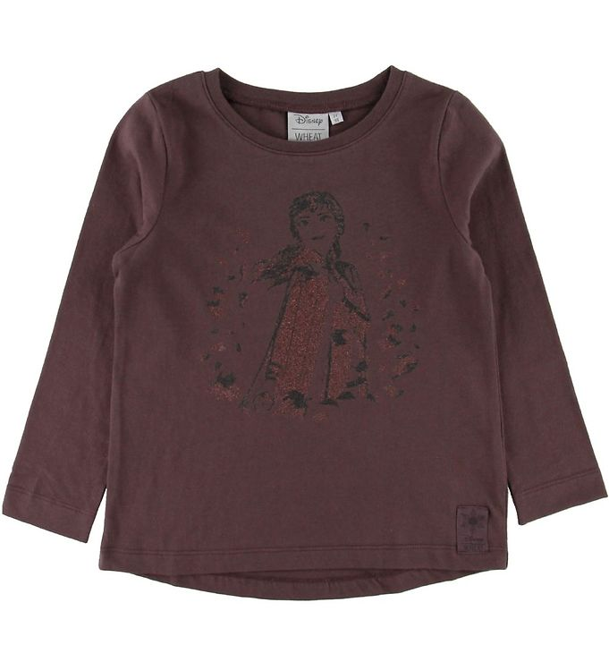 Image of Wheat Disney Bluse - Frozen - Soft Eggplant m. Anna (SC628)