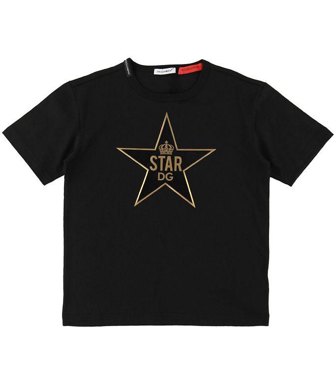 Image of Dolce & Gabbana T-shirt - Sort m. Guld/Stjerne (SC689)