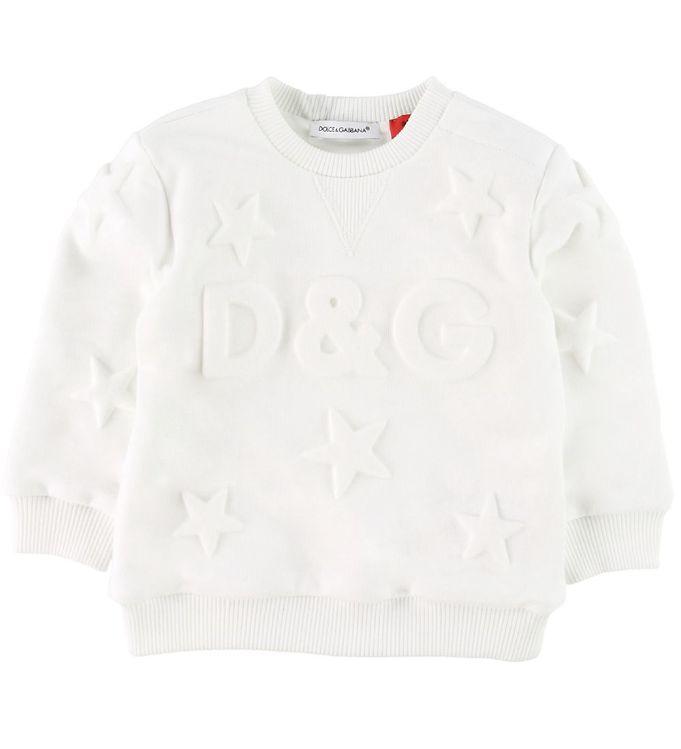 Image of Dolce & Gabbana Sweatshirt - Hvid m. Stjerner (SC707)