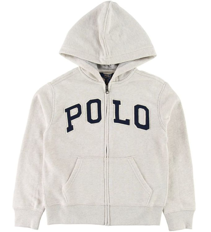 Image of Polo Ralph Lauren Cardigan - Beige Heather m. Tekst (SC908)