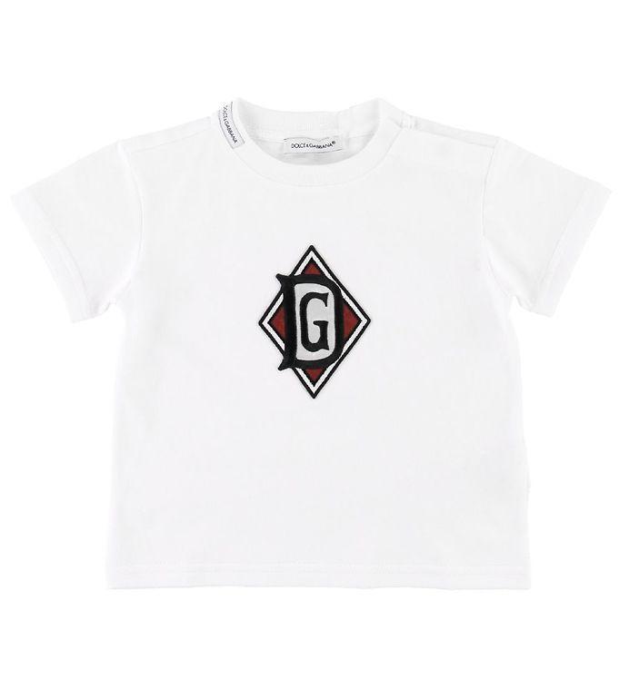 Image of Dolce & Gabbana T-shirt - Hvid m. Patch (SC911)