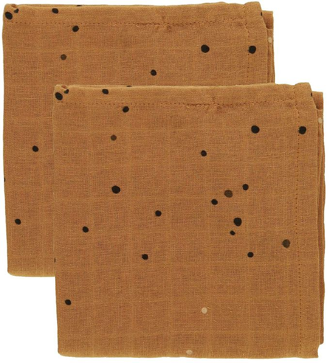Image of Done By Deer Stofble - 70x70 - 2-pak - Mustard Dreamy Dots (SC940)