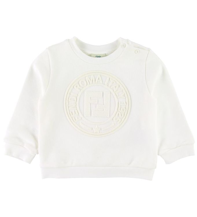 Image of Fendi Sweatshirt - Off White m. Logo (SD043)
