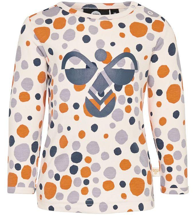 Hummel Bluse - HMLEdna - Lys Rosa m. Prikker - 0% - 8,AA - Hummel,Hummel Bluse,Hummel PS20,Hummel Udsalg,Pigetøj - Hummel