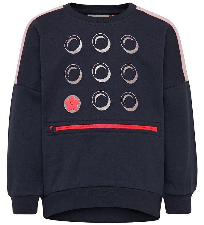 Image of Lego Duplo Sweatshirt - LWSun - Navy m. Rosa/Sølv (SD193)