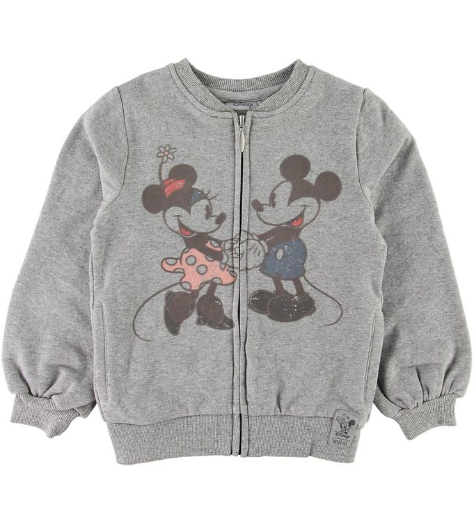 Image of Wheat Disney Cardigan - Mickey & Minnie - Gråmeleret (SD264)