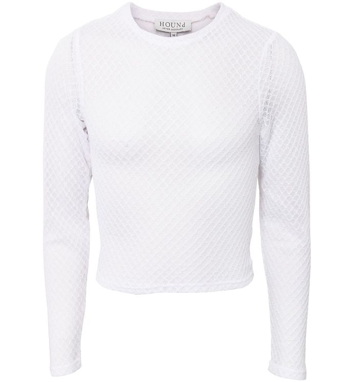 Image of Hound Bluse - Knit - White (SD367)