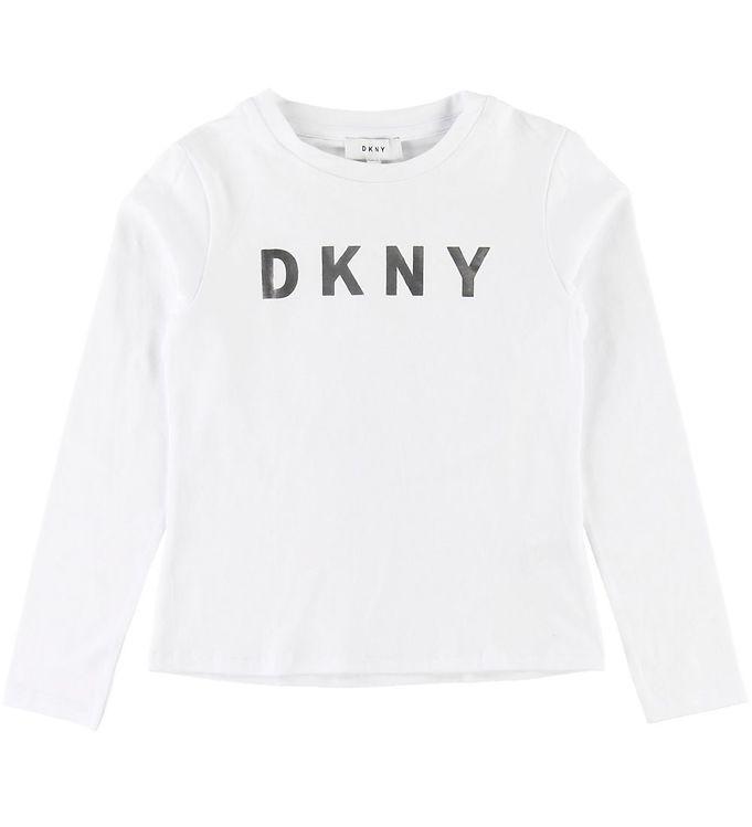 Image of DKNY Bluse - Hvid m. Logo (SD435)