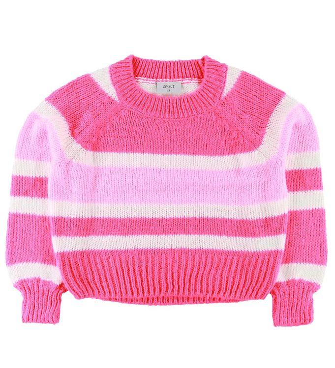 Image of Grunt Bluse - Strik - Hanne - Neon Pink (SD558)