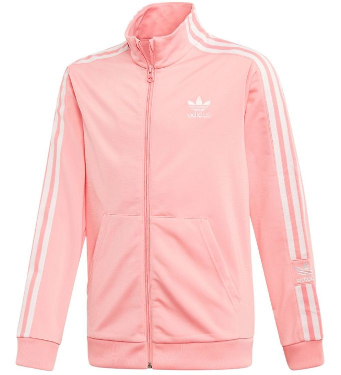 Image of adidas Originals Cardigan - Lock Up - Koral/Hvid