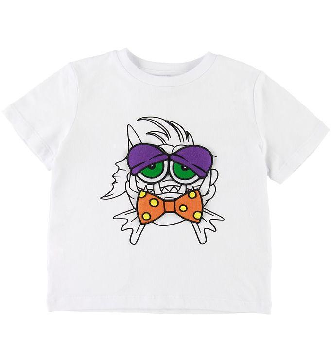 Image of Stella McCartney Kids T-shirt - Hvid m. Fisk/Patches (SD650)