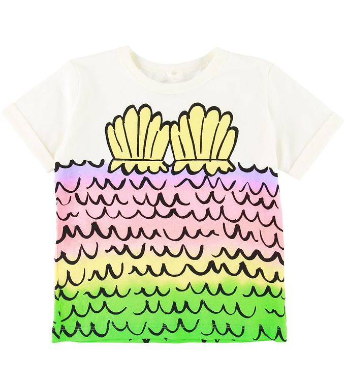 Image of Stella McCartney Kids T-shirt - Hvid m. Havfrue (SD654)