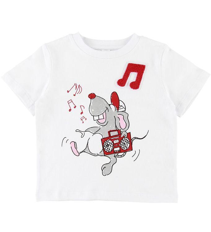 Image of Stella McCartney Kids T-shirt - Hvid m. Mus (SD657)