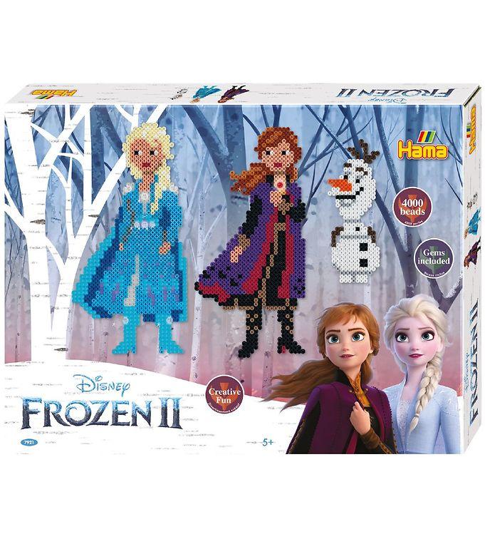 Hama Midi Perlesæt - 4000 stk - Disney Frozen 2 - Frost,Hama Gaveæske,Hama Midi,Kreativ leg,Perler - Hama