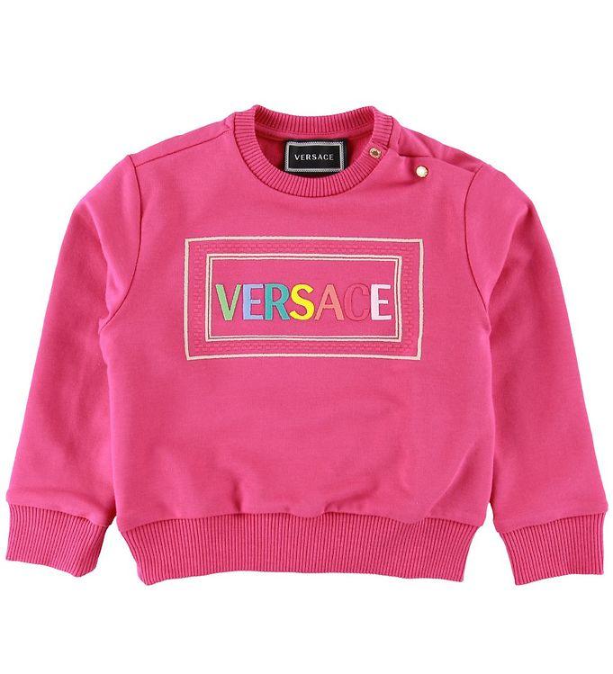 Image of Versace Sweatshirt - Fuchsia m. Logo (SD860)