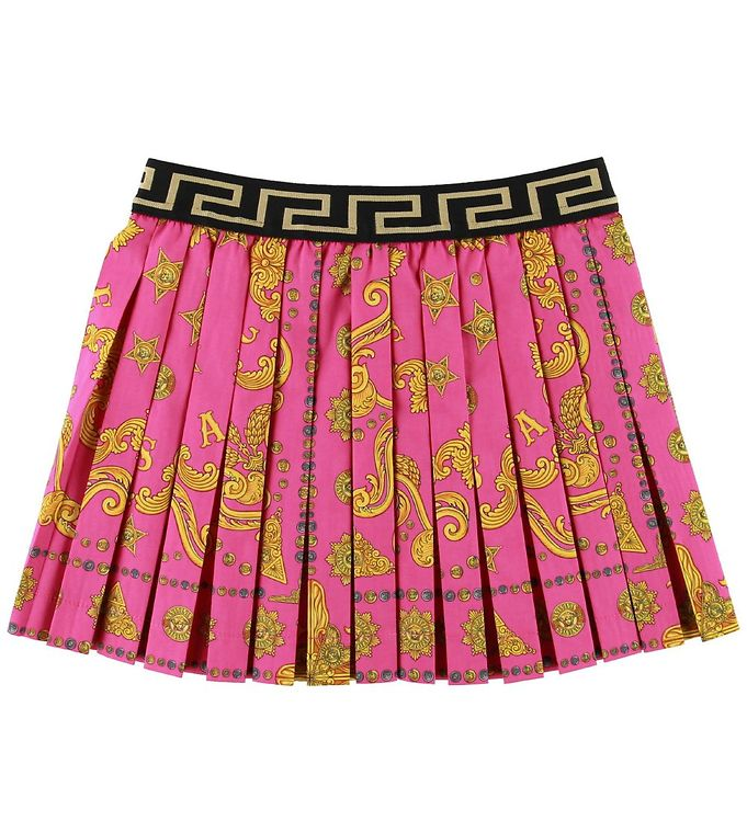 Image of Versace Nederdel - Pink/Gul (SD865)
