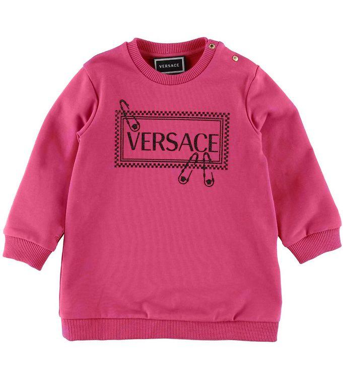 Image of   Versace Sweatkjole - Pink m. Logo