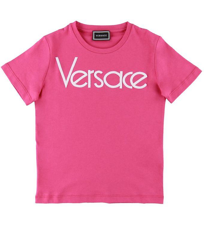 Image of Versace T-shirt - Fuchsia m. Logo (SD873)