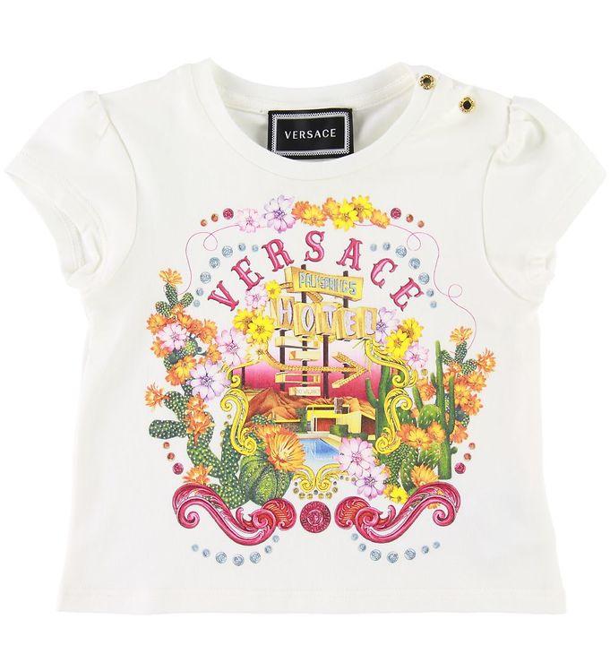 Image of Versace T-shirt - Hvid m. Print (SD882)