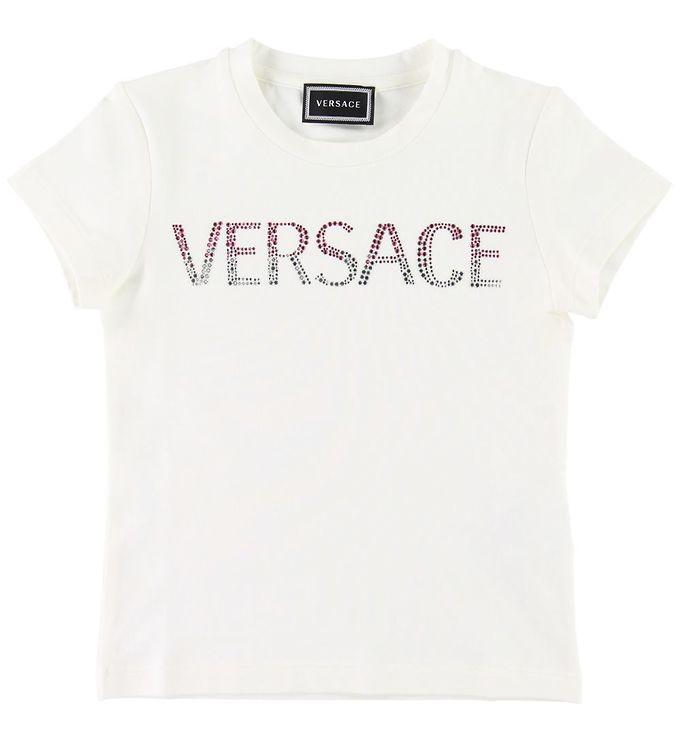 Image of Versace T-shirt - Hvid m. Logo (SD891)