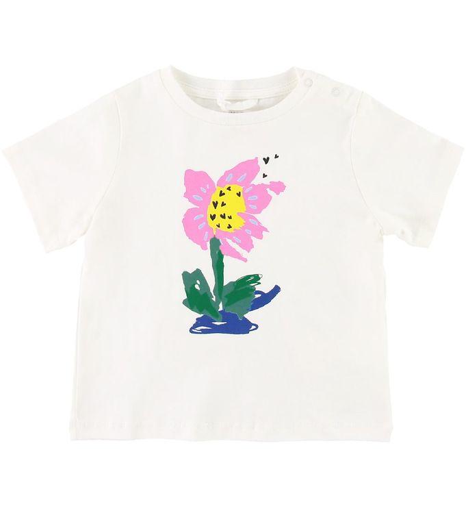 Image of Stella McCartney Kids T-shirt - Hvid m. Print (SD905)