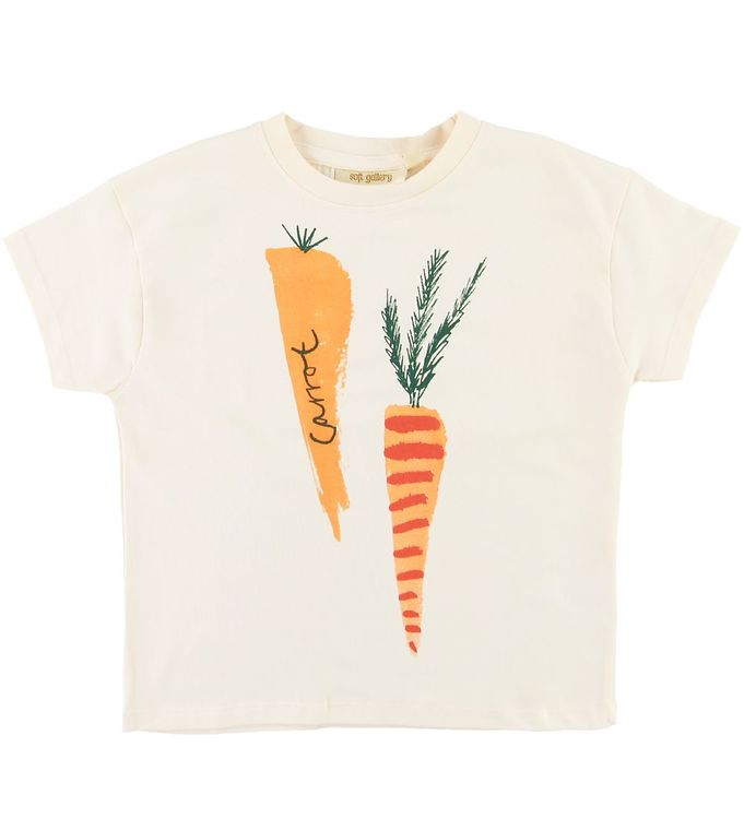 Image of Soft Gallery T-shirt - Dharma - Carrots - Gardenia (SE867)