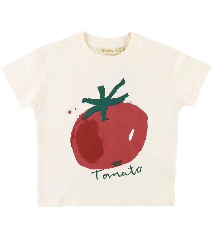 Image of Soft Gallery T-shirt - Dharma - Tomato - Gardenia (SE870)