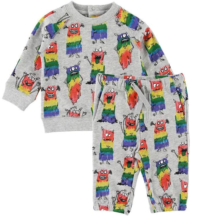 Image of Stella McCartney Kids Sweatsæt - Grå m. Monster (SF105)