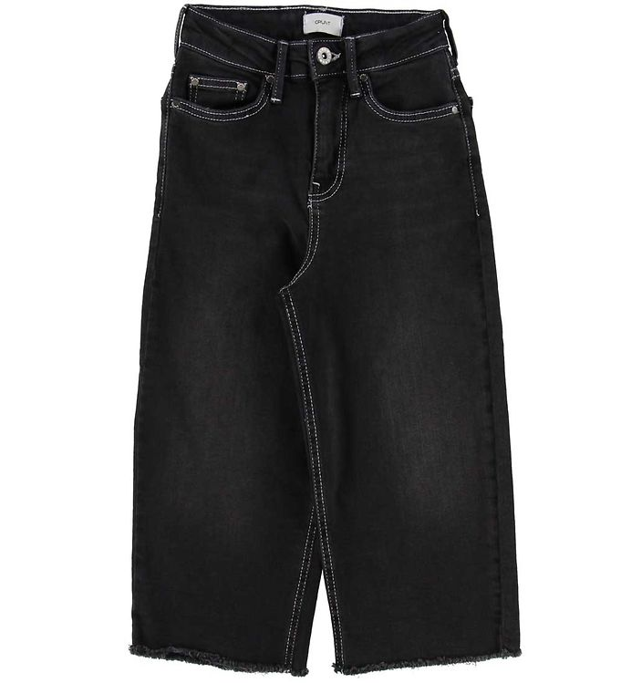 Image of Grunt Jeans - Wide Leg Cropped - Sort (SF110)