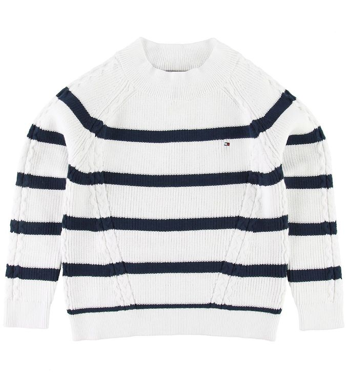 Image of Tommy Hilfiger Bluse - Strik - Nautical - Hvid/Navy (SF393)