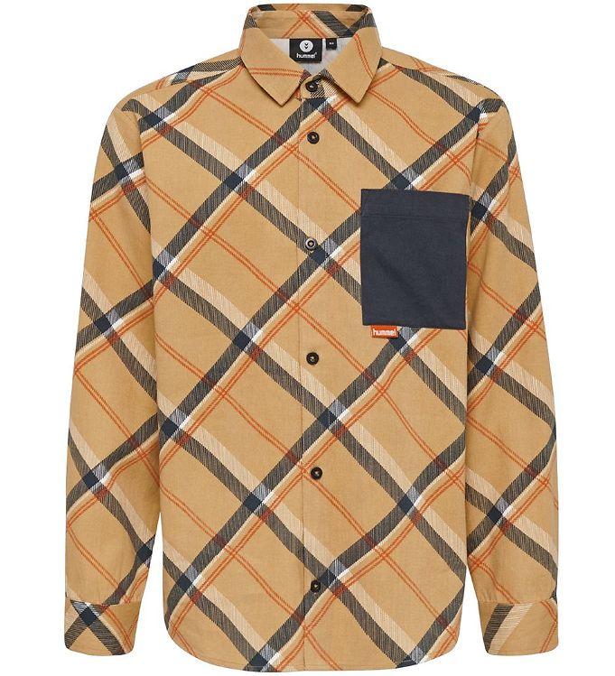 Image of Hummel Teens Skjorte - HMLJohn - Brunternet (SF571)