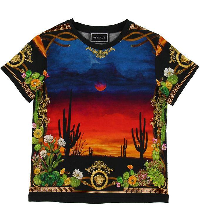 Image of Versace T-shirt - Sort m. Print (SG253)