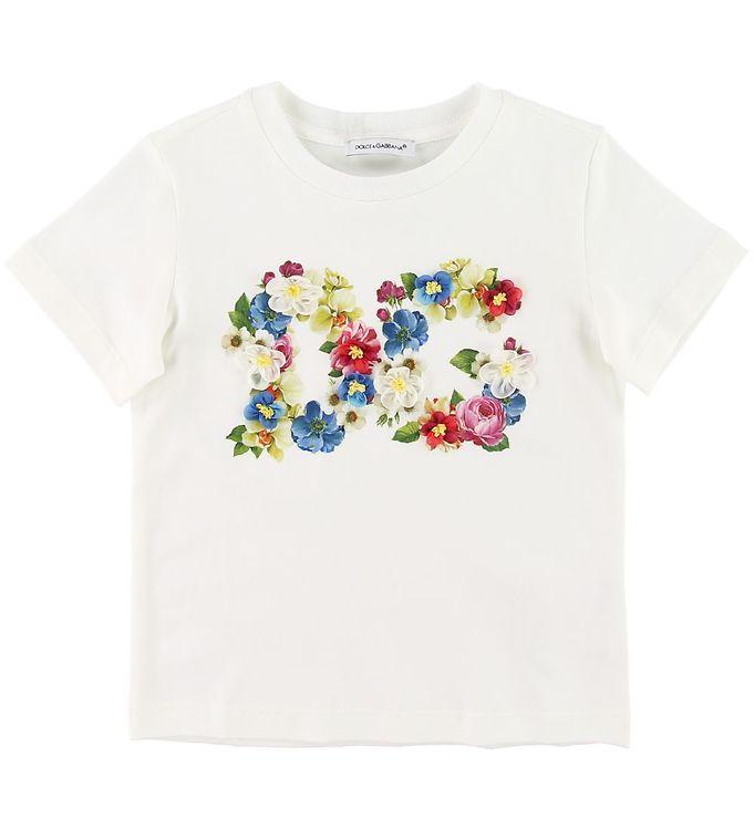 Image of   Dolce & Gabbana T-shirt - Blooming - Hvid m. Logo