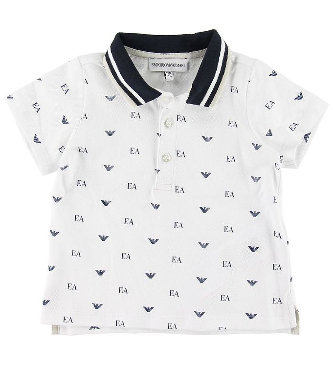 Image of Emporio Armani Polo - Hvid m. Allover Logo (SH509)