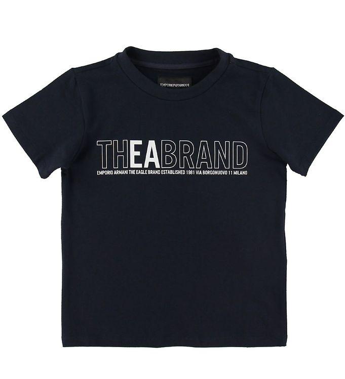 Image of Emporio Armani T-shirt - Navy m. Print (SH512)