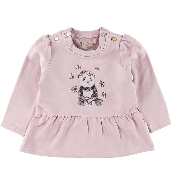 Image of Hust and Claire Bluse - Signi - Bambus - Violet Ice m. Panda (SH549)