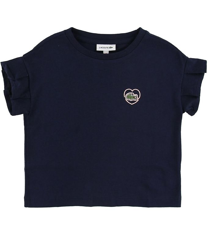 Image of Lacoste T-shirt - Navy m. logo (SH926)