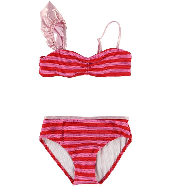 Image of Little Marc Jacobs Bikini - Pink/Rødstribet m. Flæse (SH958)