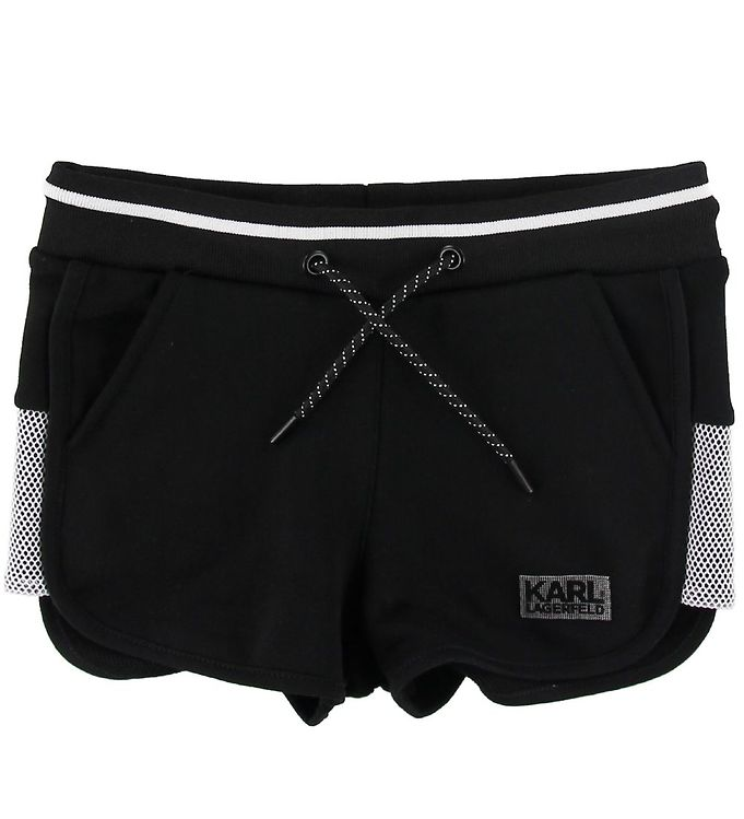 Image of Karl Lagerfeld Sweatshorts - Sort m. Hvid (SH974)