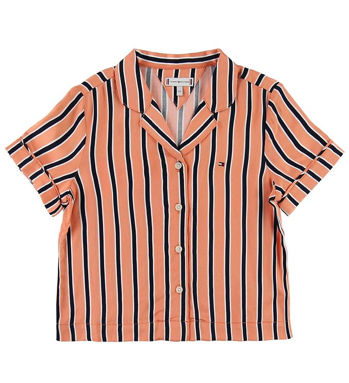 Image of Tommy Hilfiger Skjorte - Resort Stripe - Orange (SI272)