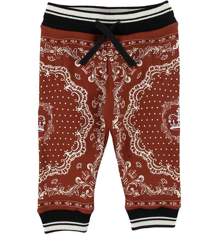 Image of Dolce & Gabbana Sweatpants - Bordeaux m. Mønster (SI334)