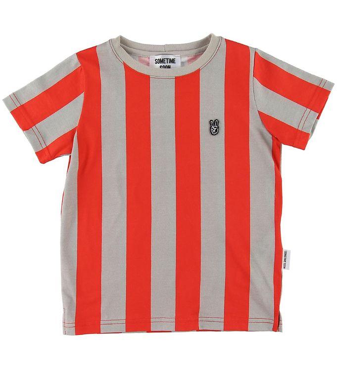 Image of Sometime Soon T-shirt - Henry - Rød/Gråstribet (SI654)