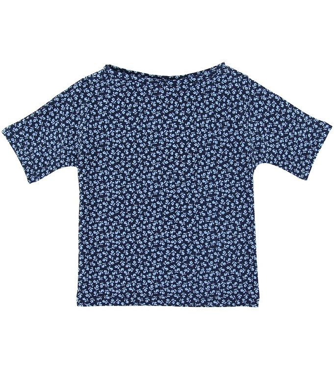 Image of Petit Crabe Badebluse - Luna - UV50+ - Navy m. Blomster (SI777)