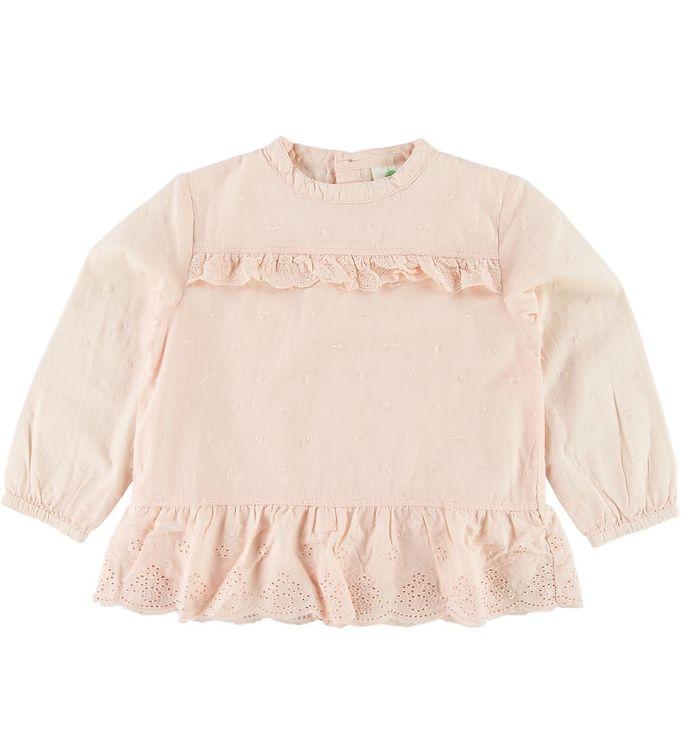 Image of En Fant Bluse - Rosa m. Blonde (SI898)