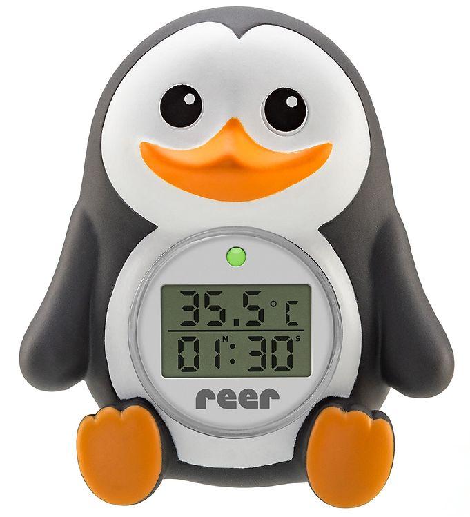 Image of Reer Digitalt Badetermometer - 2-i-1 - Pingvin (SJ111)