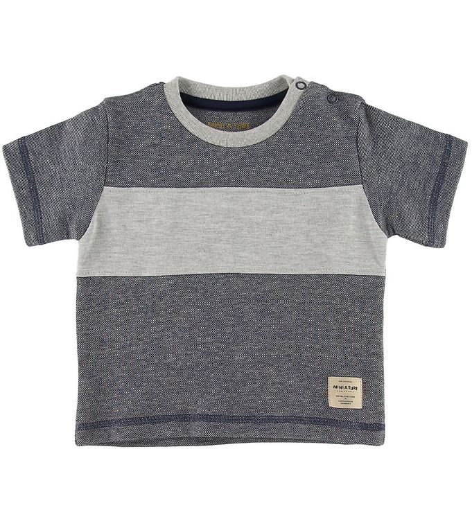 Image of Mini A Ture T-shirt - Lyad - Ombre Blue (SJ133)