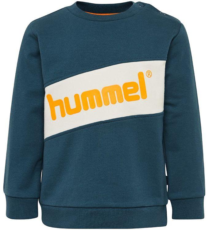 Hummel Sweatshirt - HMLClement - Petroleum m. Logo - 0% - 2,AA - Hummel,Drengetøj,Hummel Bluse,Hummel SS20,Hummel Sweatshirt,Hummel Udsalg - Hummel