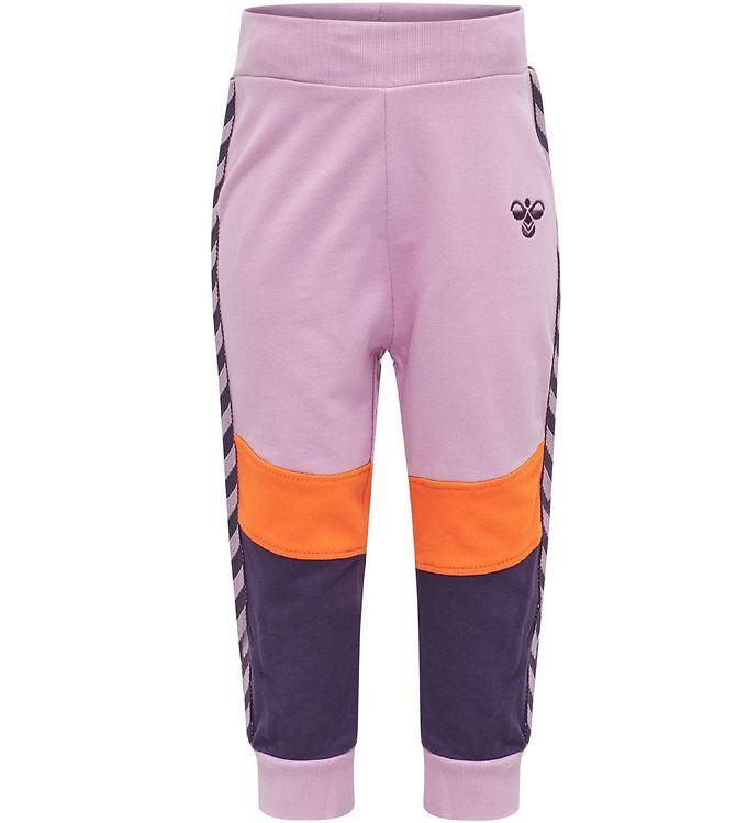 Image of Hummel Sweatpants - HMLVeronica - Lilla/Orange (SJ265)