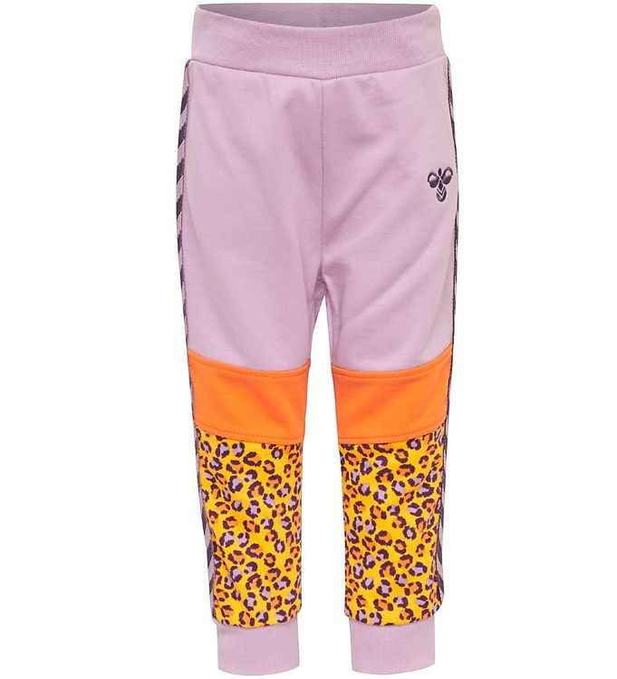 Image of Hummel Sweatpants - HMLVeronica - Mauve Shadow/Orange/Leo (SJ267)