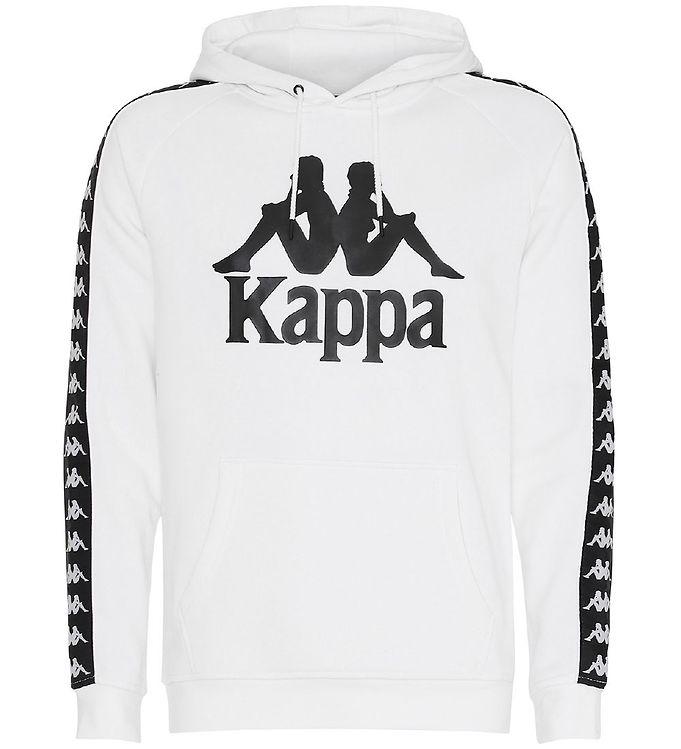Image of Kappa Hættetrøje - Banda Bzaba - Hvid m. Logo (SJ375)